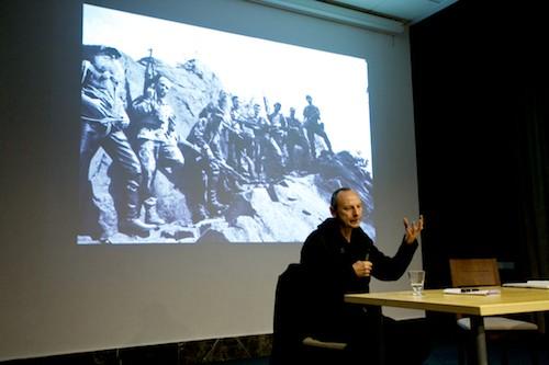 Zbigniew Libera na spotkaniu w Muzeum Narodowym w Krakowie, 9 grudnia 2010