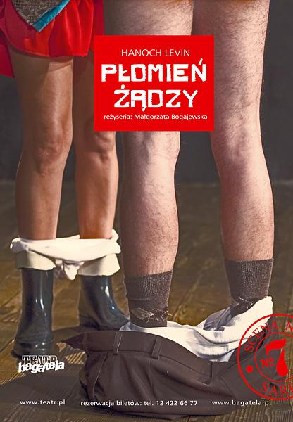 """Hanoch Levin """"Płomień żądzy"""", reż. Małgorzata Bogajewska, foto Piotr Kubic, grafika Dariusz Baran"""