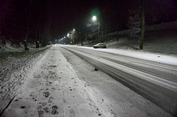 Zimowa ulica bez końca