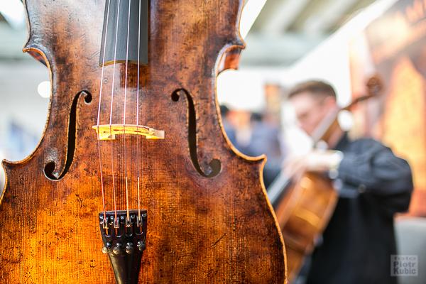 Wiolonczela, targi muzyczne Musikmesse 2016, Frankfurt